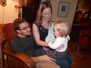 Uncle Brendan, Auntie Andrea and Eilidh